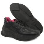 Tênis Sneaker Feminino em Couro 2003 Preto