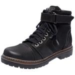 Bota Coturno em couro Mega Boots 6020 Preto
