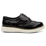 Sapato Casual Oxford Verniz Preto