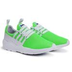 Tênis Esportivo Masculino Verde-Branco 490