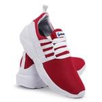 Tênis Esportivo Masculino Vermelho-Branco 490