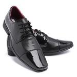 Sapato Social Masculino Em Verniz Preto 801