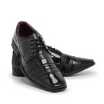 Sapato Social Masculino Em Verniz Preto 840