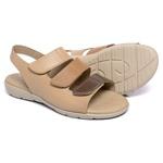 Sandália Em Couro Comfort Mel