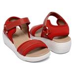 Sandália Em Couro Neoprene Soft Red