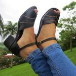 Sandália Maya Comfort Couro Legítimo