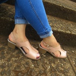 Sandália Maya Comfort Ref 2808 Couro Legítimo