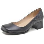 Sapato Bico Quadrado Ref 3164 Couro Legítimo