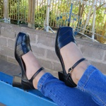 Sapato Bico Quadrado Couro Legítimo