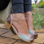 Sapato Bico Quadrado Ref 3168 Couro Legítimo