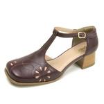 Sapato Bico Quadrado Ref 3161 Couro Legítimo