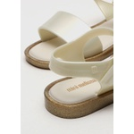 Mini Melissa Mar Sandal Branco Cintilante