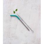 Kit canudo inox e protetor silicone | canudo + escova limpeza