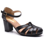 Sapato Feminino Quebec Retrô Loretta Black