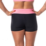 Short Fitness Feminino Rock Fit Preto e Rosa