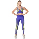Top Fitness Feminino Rock Fit Purpple Bubbles