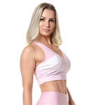 Top Fitness Rock Fit Victory Rosa e Branco