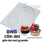 Pão de Mel Grande BWB CÓD: 802 Forma de Chocolate com Silicone Especial (3 partes)