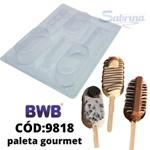 Paleta Gourmet BWB COD:9818 Forma de Chocolate Acetato com Especial (3 partes)