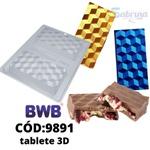 Tablete 3D BWB COD:9891 Forma Barra De Chocolate Acetato com Silicone Especial (3 Partes)