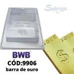 Barra de Ouro BWB COD:9906 Forma Barra De Chocolate Acetato com Silicone Especial (3 Partes)