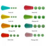 Kit Bico de Confeitar Plástico 8 Peças + 1 Adaptador BRICOFLEX