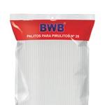 Palito para Pirulito Pet N28cm Branco C/50 und