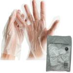 Luva Plástica Descartável Transparente c/100 und Tamanho Único