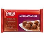 Chocolate Nestlé Meio Amargo 1kg em Barra