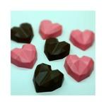 Coração Lapidado Trufa BWB COD:9836 Forma de Chocolate Acetato com Silicone Especial (3 partes)