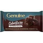 Chocolate Fracionado Genuine Meio Amargo 1kg Barra