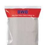 Palito para Topo de Bolo 28cm Cristal 100 und + 200 und de Palito Cristal 14cm