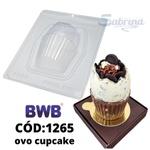 Ovo Cupcake 250g BWB COD:1265 Forma De Chocolate Acetato com Silicone Especial (3 Partes)