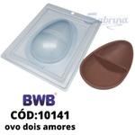 Ovo 250g Dois Amores BWB COD:10141 Forma De Chocolate Acetato com Silicone Especial (3 Partes)