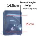 Coração 500g Forma de Acetato com Silicone 3 partes Anelli