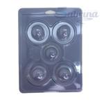 Trufa Mini 30g Forma de Acetato com Silicone 3 partes Anelli