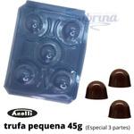 Trufa Pequena 45g Forma de Acetato com Silicone 3 partes Anelli