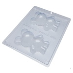 Urso Médio BWB CÓD:9984 Forma De Chocolate Acetato com Silicone Especial (3 Partes)