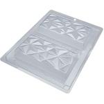 Barra Tablete Triângulo BWB COD: 9911 Forma Barras De Chocolate Acetato com Silicone Especial (3 Partes)