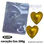 Coração 200g Forma de Acetato com Silicone 3 partes Anelli