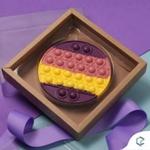 Choco Pop It Redondo Crystal Forming Cód:197 Forma De Chocolate Acetato com Silicone Especial (3 Partes)