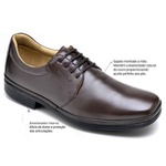 Sapato Social Masculino Amortecedor Sapatoterapia Dark Brown New York