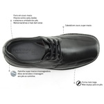 Sapato Casual Tamanho Grande Tradicional Sapatoterapia Preto