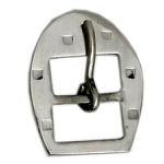 Fivela Ferradura para Cabeçada 16 mm Inox