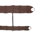 Conjunto de Barrigueira e Cilha de Lã c/ Argolas em Aço Inox (Marrom)