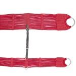 Conjunto de Barrigueira e Cilha de Lã c/ Argolas em Aço Inox (Vermelha)
