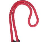 Rédea de Lã c/ Argolas Inox (vermelha)