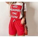 Conjunto Blusa e Shorts - Vermelho