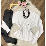 Blusa Lisa - Manga Longa - Básica |branco