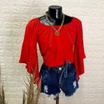 Blusa Bata Ciganinha Vermelha